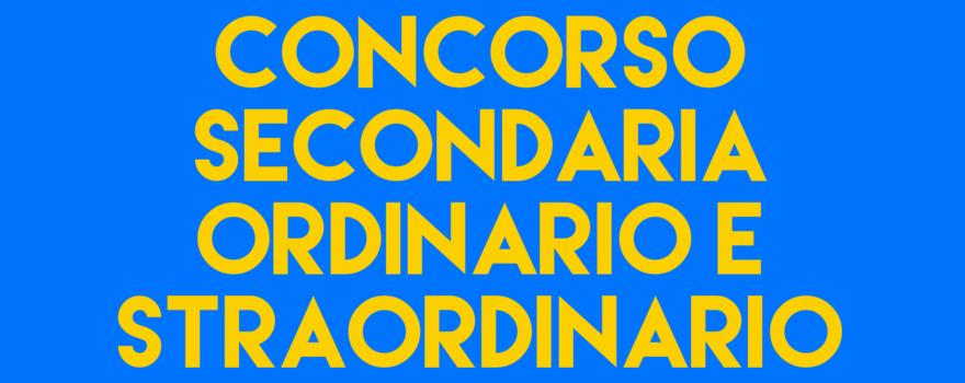 CONCORSO SECONDARIA TERZA EDIZIONE – GIUGNO/LUGLIO 2021